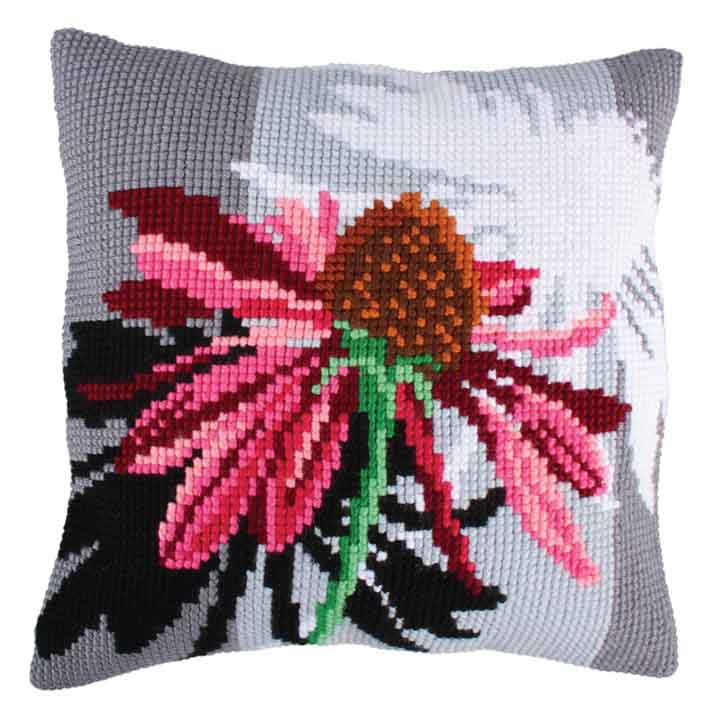 Collection D Art Cross Stitch Cushion: Shadows of Flowers