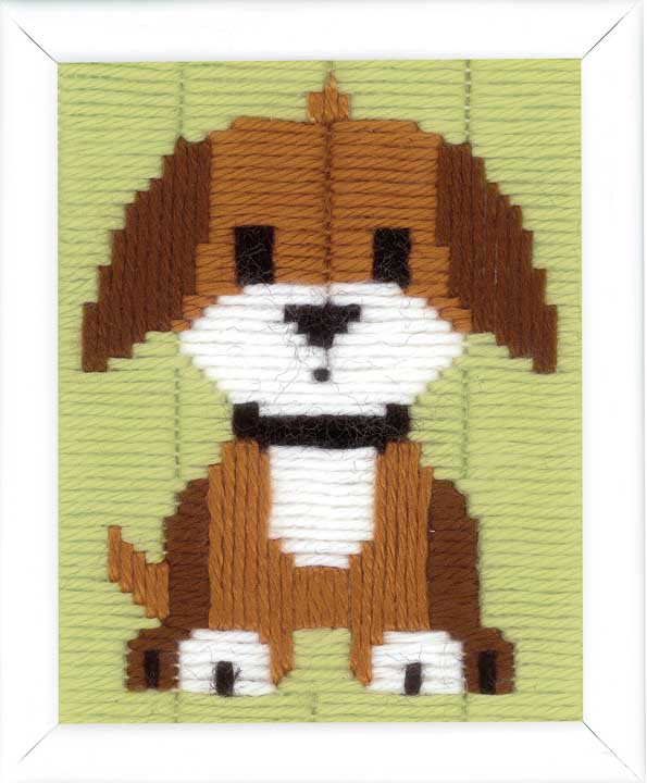 Vervaco Long Stitch Kit: Brown Doggy