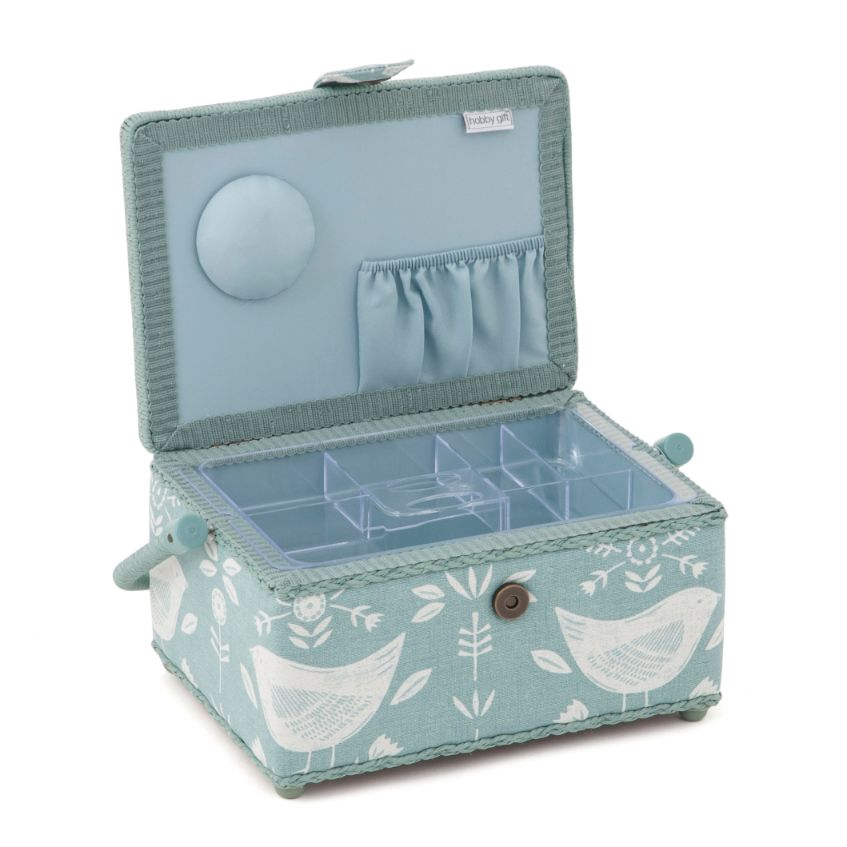HobbyGift HGM_548 | Sewing Box (M) | Duck Egg Birds  2