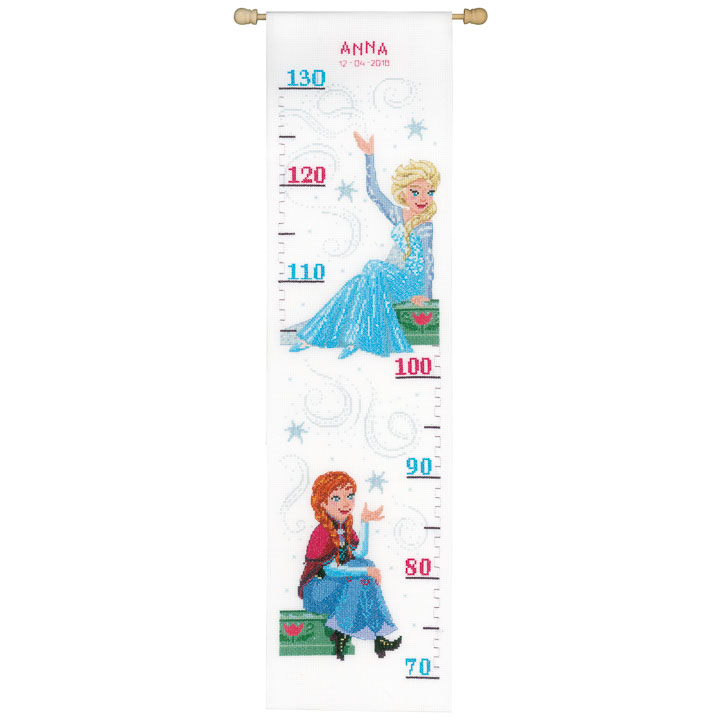 Vervaco Counted Cross Stitch Kit: Height Chart: Frozen - Sisters Forever
