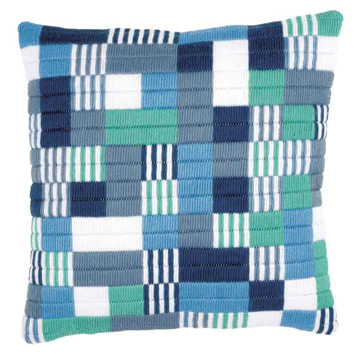 Vervaco Long Stitch Cushion: Blocks And Stripes