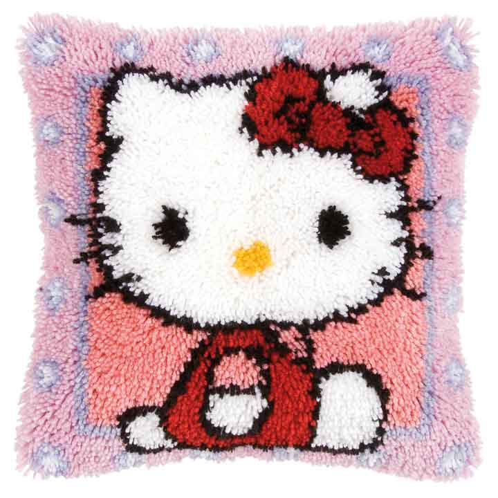 Vervaco Latch Hook Cushion: Hello Kitty Latch Hook Cushion Kit