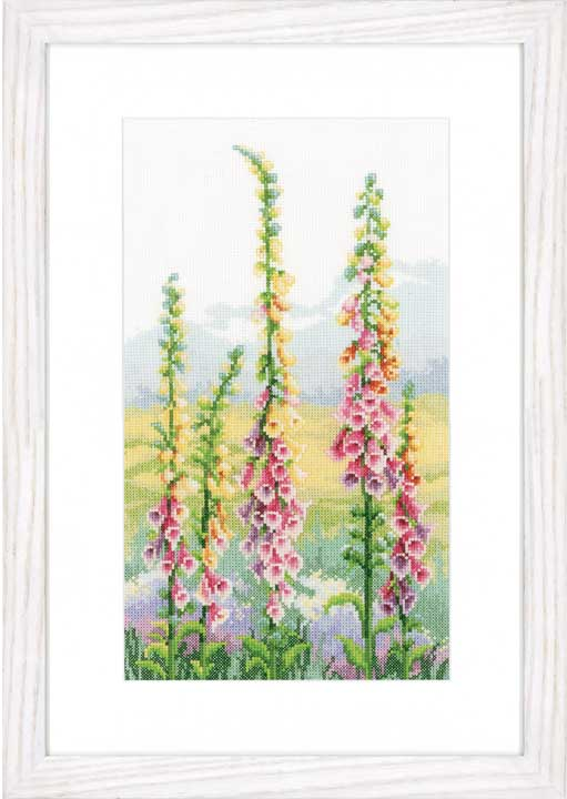 Vervaco Counted Cross Stitch Kit: Foxgloves At Dawn