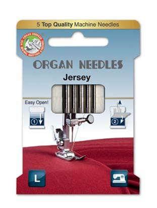 Organ Jersey Sewing Needles | Mix Sizes 60 70 80 & 90 | 5 Needles Per Pack