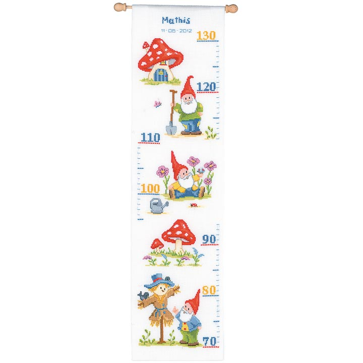 Vervaco Counted Cross Stitch Kit - Height Chart - Gnome Height Charts CSK