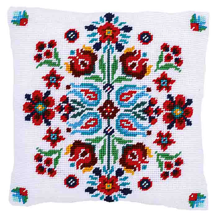 Vervaco Tapestry Kit: Cushion: Folklore I | PN_0168199 Flowers & Nature TK