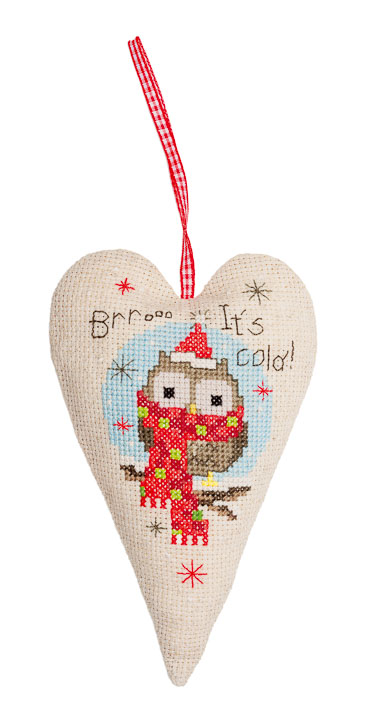 Vervaco Counted Cross Stitch: Christmas Owls Seasonal CSK