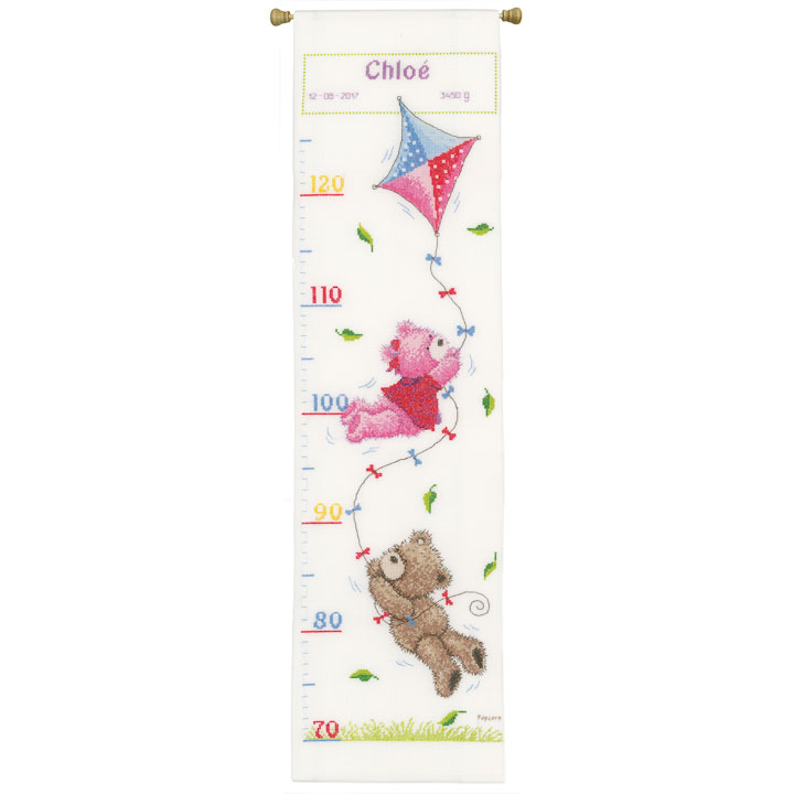 Vervaco Counted Cross Stitch Kit: Height Chart: Popcorn & Brie Flying Height Charts CSK