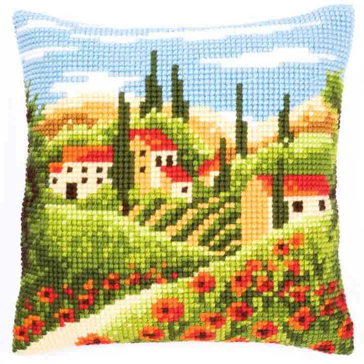 Vervaco Cross Stitch Cushion: Village Flowers & Nature CSCK