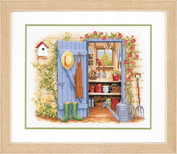 Vervaco Counted Cross Stitch Kit: Tool Shed Leisure & Hobbies CSK