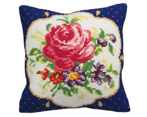 Collection D Art Cross Stitch Cushion: Meissen (Left)