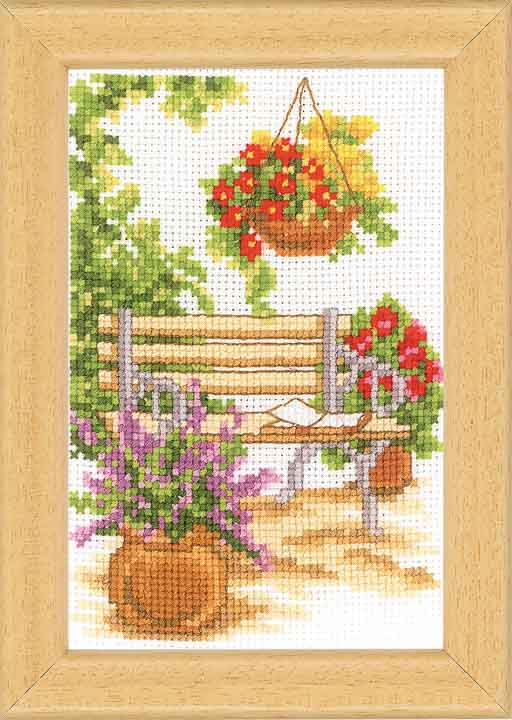 Vervaco Counted Cross Stitch Kit: Sit In The Garden -1