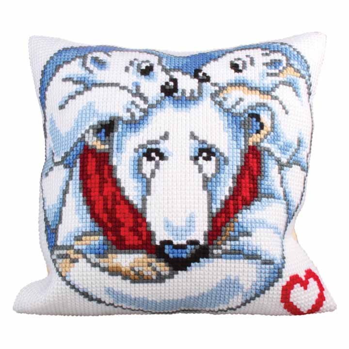 Collection D Art Cross Stitch Cushion: Father's Love Beauty & Love CSCK