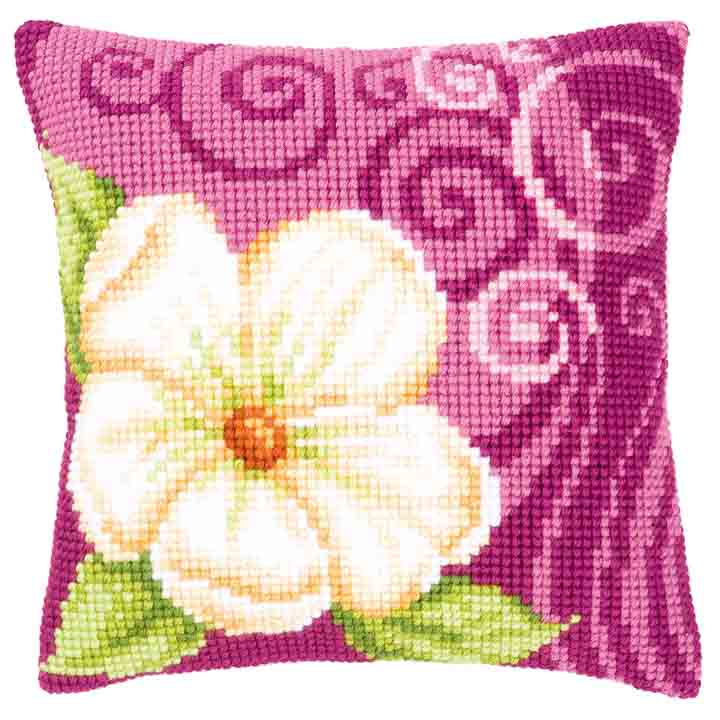 Vervaco Cross Stitch Cushion: Camellia 1 Flowers & Nature CSCK