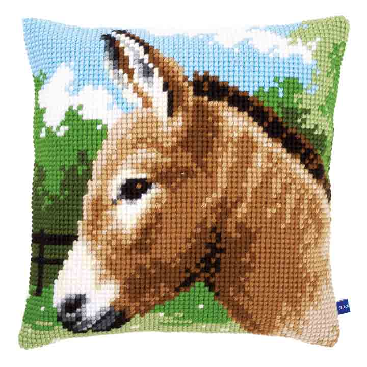 Vervaco Cross Stitch Cushion Kit: Donkey