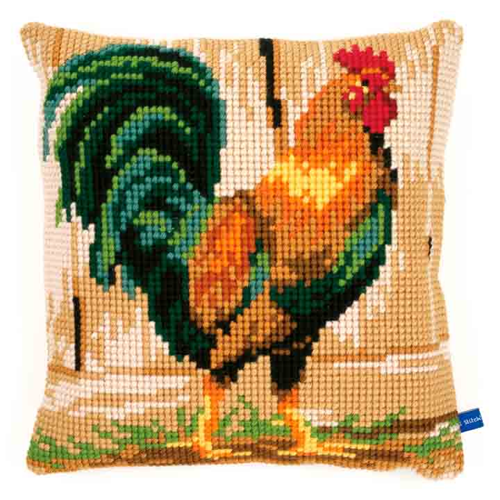 Vervaco Cross Stitch Cushion: Rooster Birds CSCK