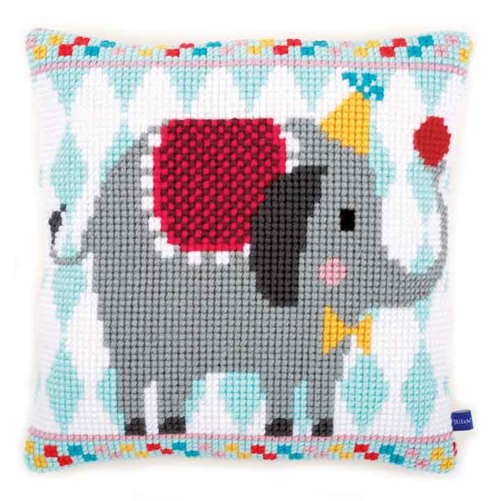 Vervaco Cross Stitch Cushion: Circus Elephant