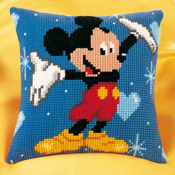 Vervaco Cross Stitch Cushion Kit: Mickey Mouse Characters CSCK