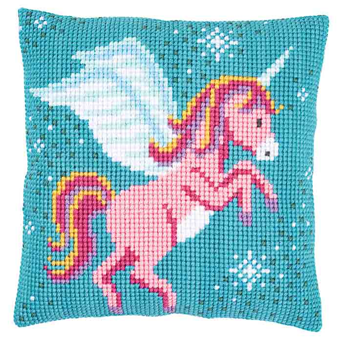 Vervaco Cross Stitch Kit: Cushion: Unicorn | PN_0166237