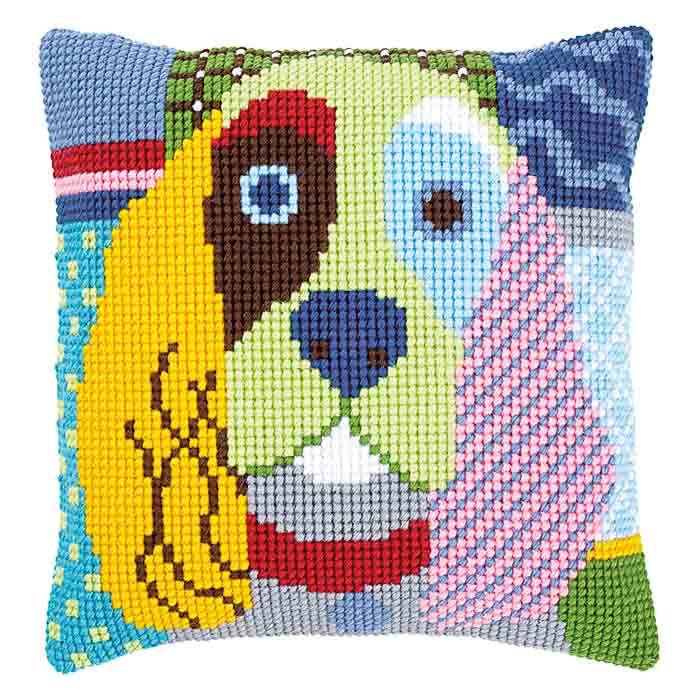 Vervaco Cross Stitch Kit: Cushion: Modern Dog | PN_0156109