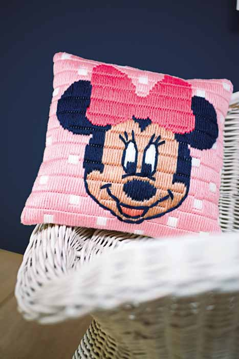 Vervaco Long Stitch Kit: Cushion: Disney: Minnie Mouse | PN_0169203 Long Stitch Cushion 2