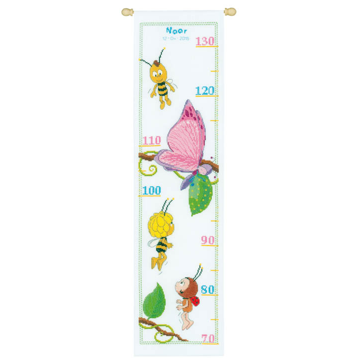 Vervaco Counted Cross Stitch Height Chart: Maya, Willy, Lara & Beatrice Height Charts CSK