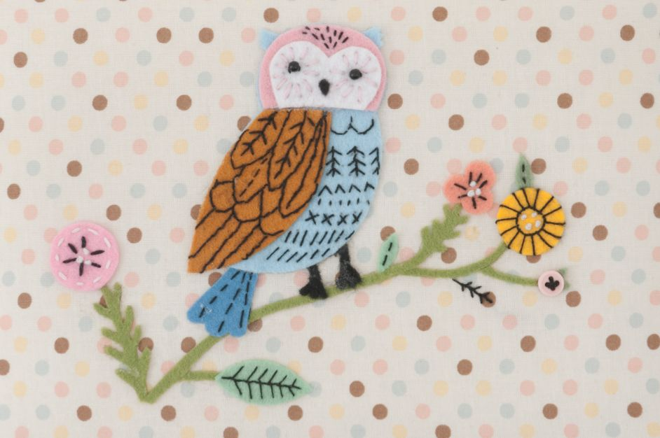HobbyGift HGM_551 | Sewing Box (M) | Applique Owl Bird Print Sewing Box 3