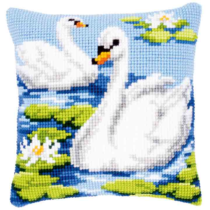Vervaco Cross Stitch Cushion: Swan Birds CSCK