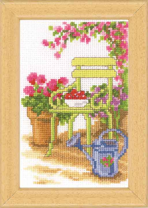 Vervaco Counted Cross Stitch Kit: Sit In The Garden - 2