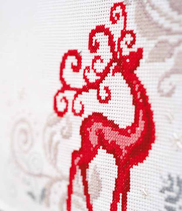 Vervaco Counted Cross Stitch Kit: Runner: Reindeer