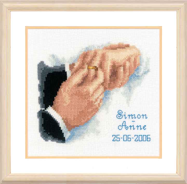 Vervaco Counted Cross Stitch Kit: Wedding Record: With this Ring