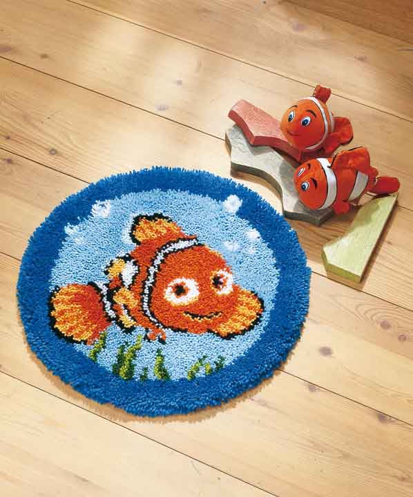 Vervaco Latch Hook Kit: Shaped Rug: Nemo