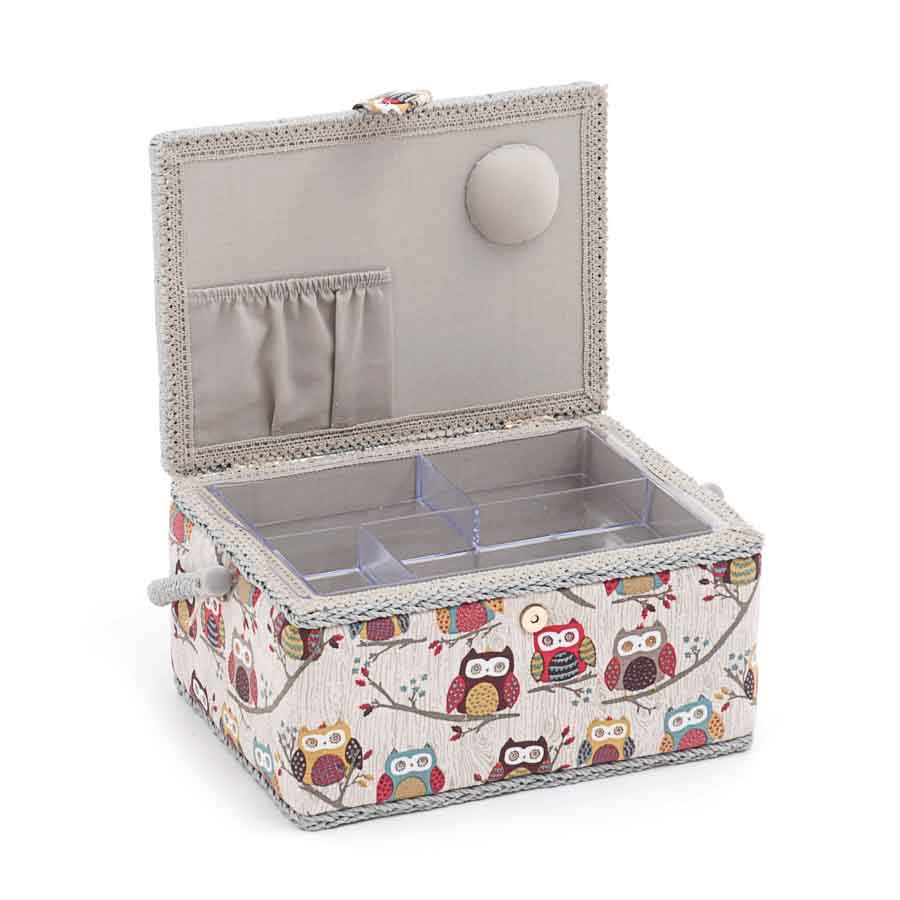HobbyGift MRM_195 | Sewing Box (M) | Rectangle | Hoot Bird Print Sewing Box 2