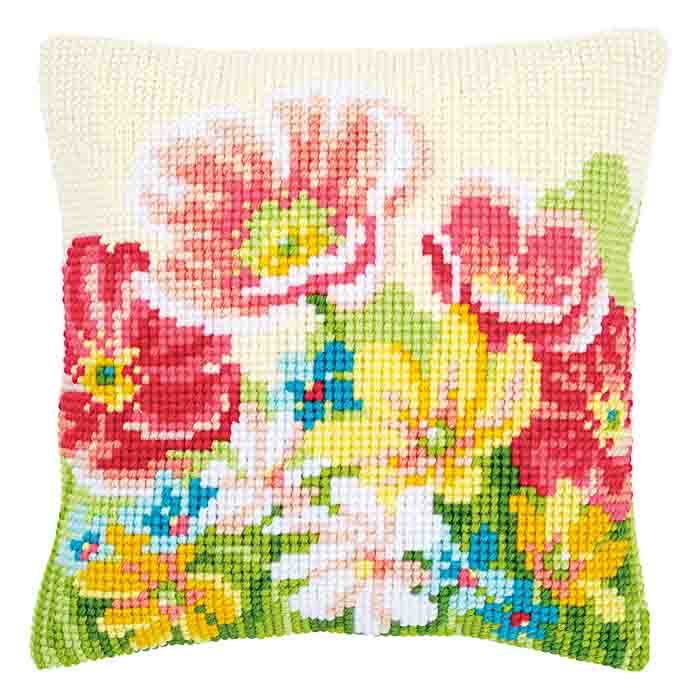 Vervaco Cross Stitch Kit: Cushion: Summer Flowers | PN_0163860