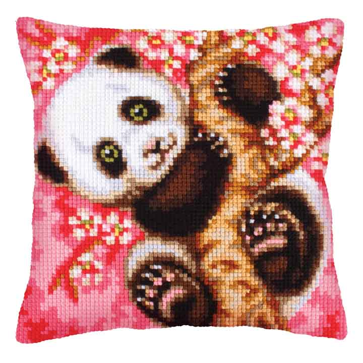 Collection D Art Cross Stitch Cushion: Hooray! It's Spring!