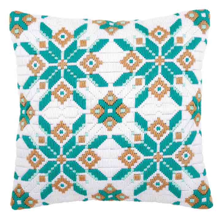 Vervaco Long Stitch Cushion: Ice Star-I Long Stitch Cushion