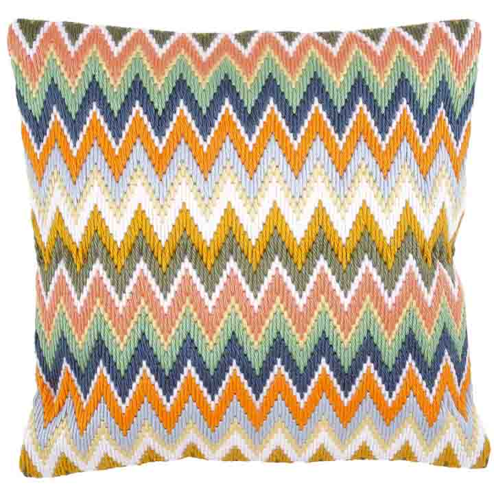 Vervaco Long Stitch Cushion: Zigzag