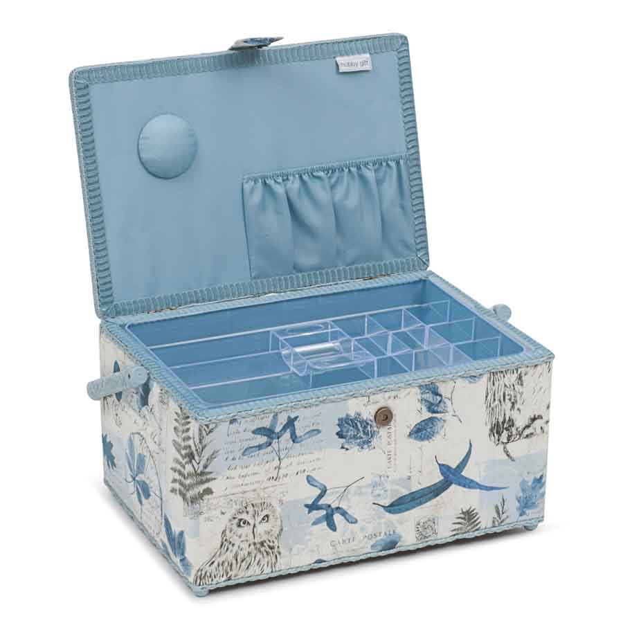 HobbyGift Classic Collection: Extra Large Sewing Box: Wise Owl | HGXL_475 Bird Print Sewing Box 3
