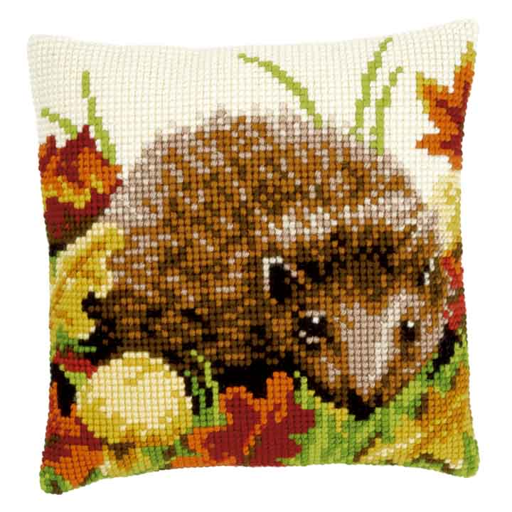 Vervaco Cross Stitch Cushion: Autumn Hedgehog