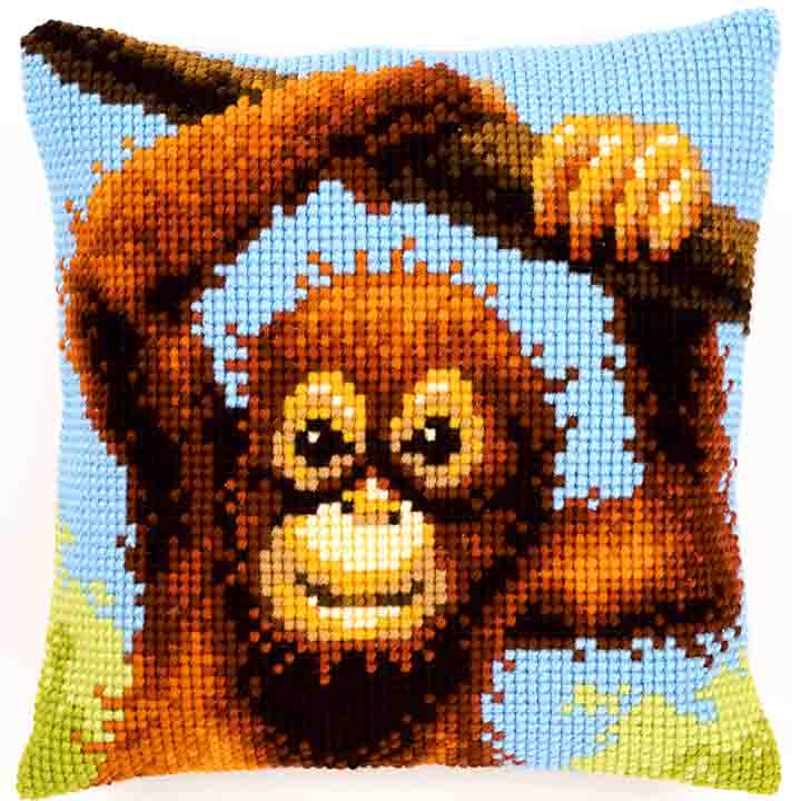 Vervaco Cross Stitch Cushion: Mischief