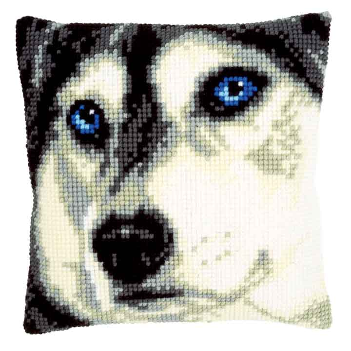 Vervaco Cross Stitch Cushion: Husky Animals & Birds CSCK