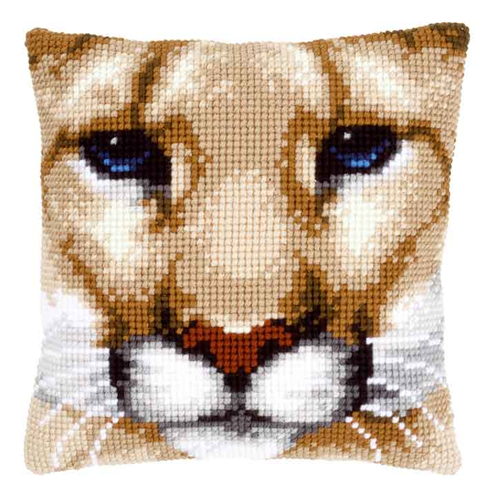 Vervaco Cross Stitch Cushion: Puma Animals & Birds CSCK