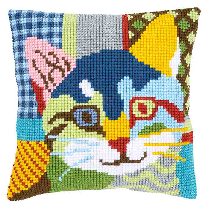 Vervaco Cross Stitch Kit: Cushion: Modern Cat | PN_0156115
