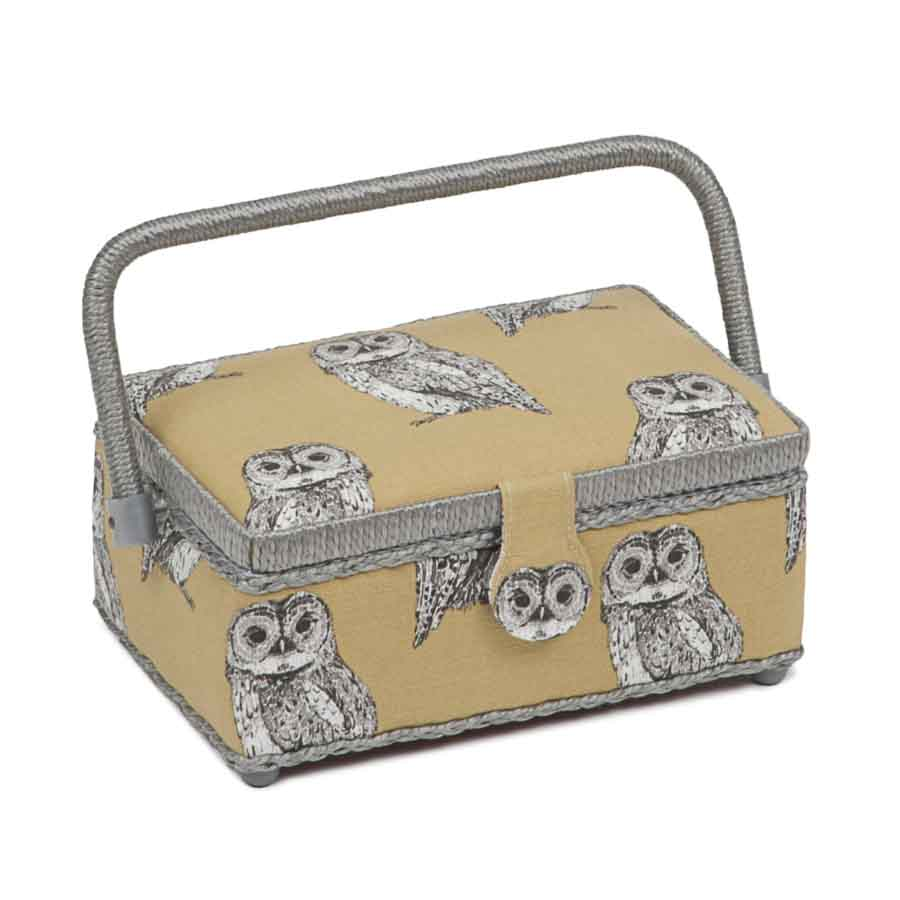 HobbyGift Premium Collection: Small Rectangular Sewing Box: Owlet | HGSR_452