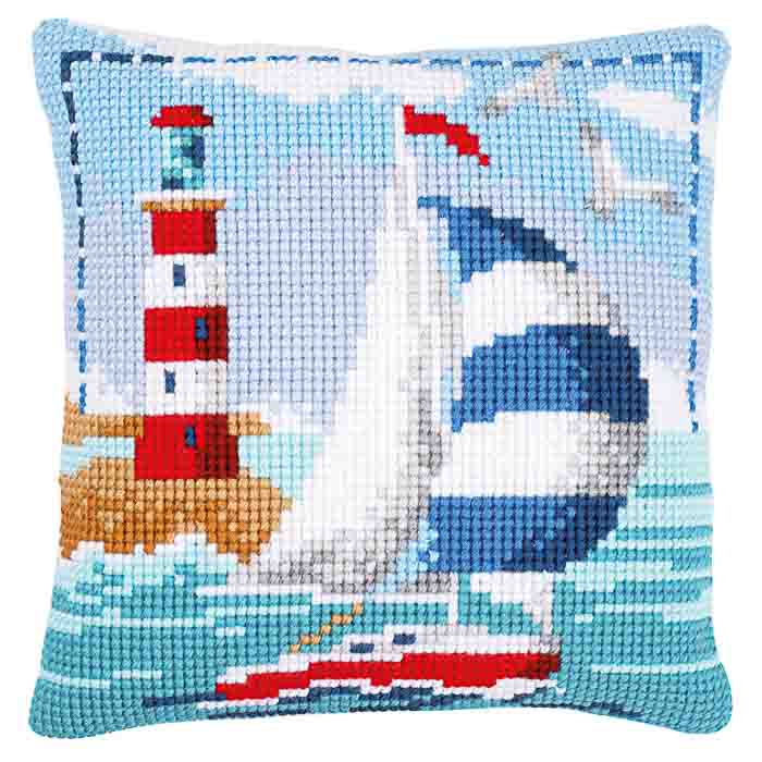 Vervaco Cross Stitch Kit: Cushion: Lighthouse | PN_0021781