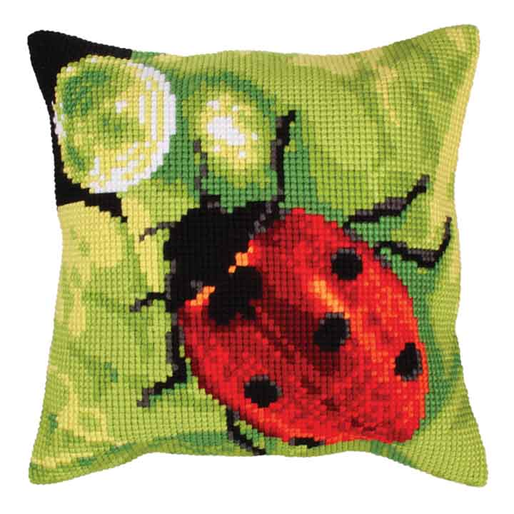 Collection D Art Cross Stitch Cushion:  A Dew Drop Flowers & Nature CSCK