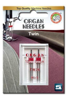 Organ Twin Needles | Size 80/2 | 2 Needles Per Pack