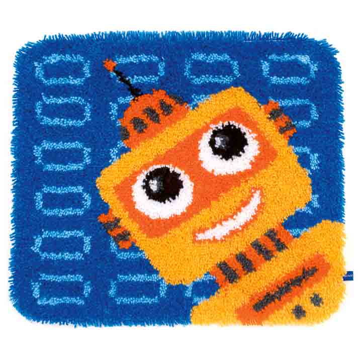 Vervaco Latch Hook Kit: Shaped Rug: Funny Robot