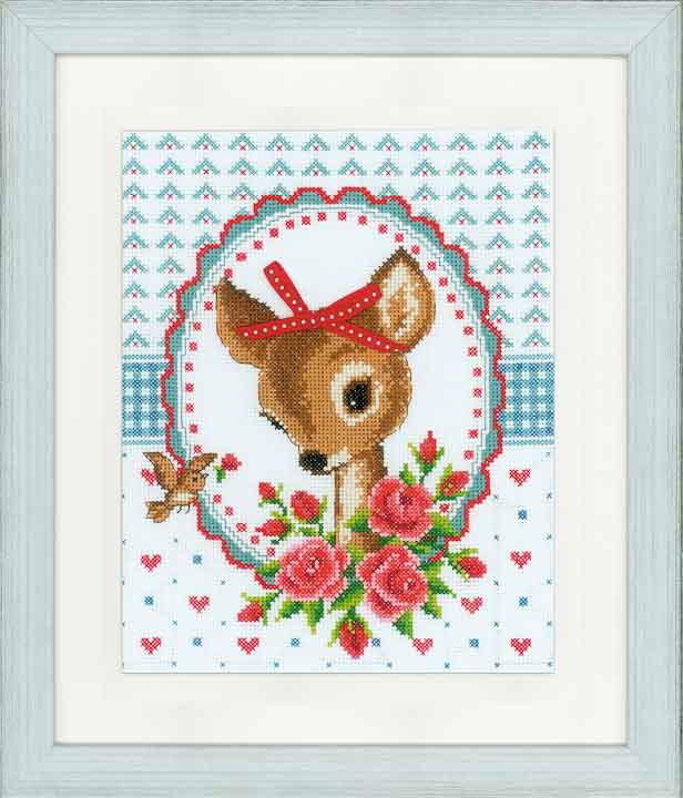 Vervaco Counted Cross Stitch Kit: Bambi & Roses