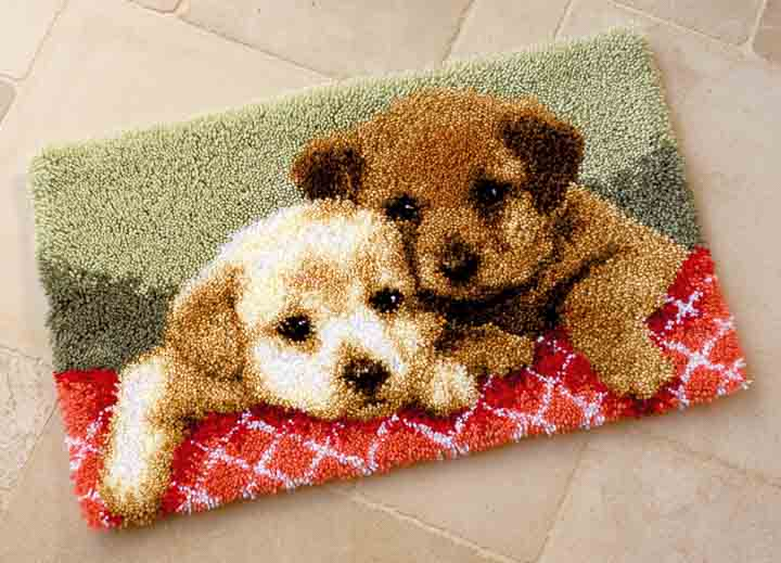 Vervaco Latch Hook Rug: Puppies Latch Hook Rug & Wall Hanging Kit